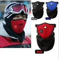 bicycle neck scarf - New Thermal Neck warmers Fleece Balaclavas CS Hat Headgear Winter Skiing Ear Windproof Warm Face Mask Motorcycle Bicycle Scarf