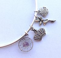 Wholesale Birthstone Charm Bangle Alex and Ani Charms Dream Catcher Bracelets