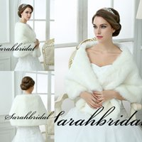 black friday - New White Ivory Bridal Wraps and Wedding Jackets and Shawls For Brides Christmas Party Faux Fur Long Sleeve Bolero Shrugs Capes Black Friday