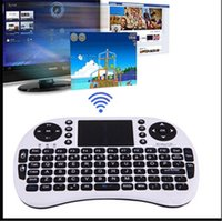 Wholesale 2015 G Touch Mini i8 Wireless Bluetooth Keyboard Mouse Combo Touchpad PC Fly Air Mouse chargeable battery USB Cable Charging Black White