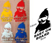 auto sticker baby - Car Sticker Cool Baby on Board Car Styling Auto Motorcycle Sticker Vinyl Decal Reflective Personalized Waterproof baby in car light refect