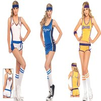 cheerleading uniforms - sexy Tricolor basketball cheerleading clothing baby clothes female models nightclub stage costumes DS game uniforms clothing exports