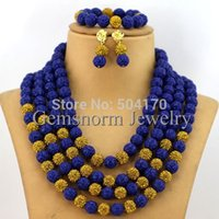 carved coral - Amazing Navy Blue Nigerian Wedding Coral Beads Jewelry Set Handmade Carved Coral Bridal Jewelry Set CNR006