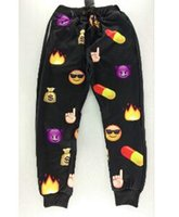 army issue - w1215 First Issue New Score Emoji Jogger Pants White Blue Figure Women Men Girl Boy Sweatpants Cartoon Outfit Clothes Trousers