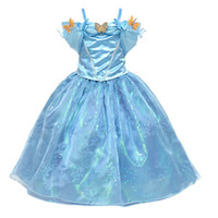 Wholesale fantasias cute baby toddler New Movie Child s Fair Tale Girls Kids Cosplay Costume Cinderella Princess Party Performances Dress clothes