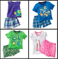 jumping beans baby clothing - Jumping Beans Giraffe Girls Clothing Sets Pajamas Grid Tshirts Shorts Turtle Short Sleeve Suits Baby Boys Outfits