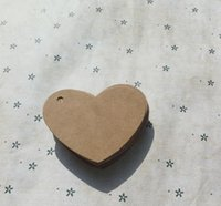 Wholesale 6 cm Kraft paper heart shaped small label DIY accessories and auxiliary materials The gift card