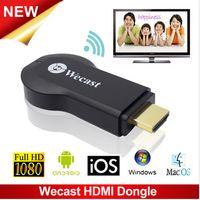 Precio de Androide tv stick dlna-C2 Wecast Miracast TV Dongle Espejo Android Mini PC Stick de TV Airplay DLNA soporte técnico de Windows, Mac OS, iOS, Android Reparto