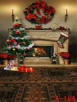 Wholesale 6 FT FT M M Wreath on the wall one boot gifts Christmas tree indoor Cameras photography backgrounds cloth S