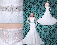 Wholesale High Quality Lace Wedding Dresses Real Photos Mermaid Sexy v neck Hi Lo Party Evening Backless Wedding Gowns Beach Bridal Dresses
