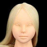 Wholesale Professional Face Makeup Long Hair False Eyelash Extension Makeup Practice Cosmetology Training Head Model