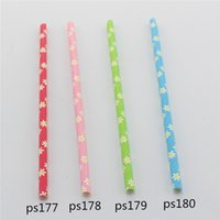 Multi baby shower straws - 2000 Multi Color mix packing Paper Straws for Beverage Store Family Party Baby Shower Lovely Daizy