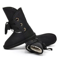 Wholesale Winter Snow Boot Women Man made Fur Buckle Motorcycle Ankle Boots Shoes Hot Sale