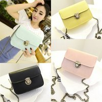 Beach bags - 2015 Fashion Shoulder Bags Candy Colors PU Leather Women Party Bags with Chains and Locks Lady Shoulder Bag New Arrival Party Bags MYF27