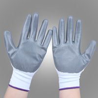 coated gloves - 3 Pairs Nitrile Coated Gloves Work Gloves CJH