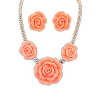 Cheap Statement Necklaces set 2015 New Fashion Elegant Costume Jewelry Necklaces, High Quality Resin Women Necklace Earrings