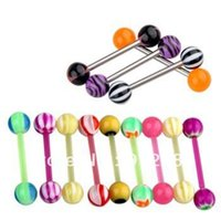 Wholesale Ball Tongue Steel Bar Ring Barbell Body Piercing