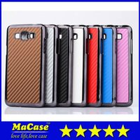 Wholesale Aluminum Carbon Fiber Chrome Electroplate Metal Alloy Hard Plastic Case Cover for Samsung Galaxy Grand