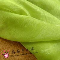Wholesale Through the thin fabric Green grass along the fiber crepe kam silk knit gauze flash silk chiffon Grass green elegant fabrics