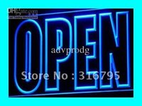 business open sign - i097 b OPEN Shop Display Cafe Business Neon Light Sign