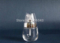 egg container - 30ml egg shape transparent clear glass lotion bottle press pump bottle cosmetic container glass bottle
