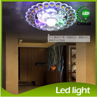 absorbing crystals - LED Crystal Ceiling Light W LED Ceiling Lamp LED Downlight Colorful Corridor Lights Led Crystal Lamp Porch Light Ceiling Absorb Dome Light