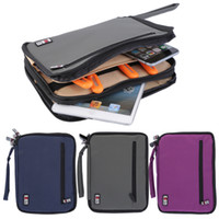 Wholesale 2016 ISP D Wrist Strap Zippered Earphone USB Travel Pouch Storage Bag Case for Tablet PC