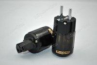 Cheap Oyaide p004E Rhodium plated EU power plug C004 power connector free shipping
