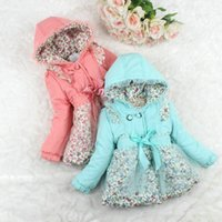 Wholesale new winter long sleeve Children Baby Girl Party warm coat jacket outerwear coats button cardigan padding coat LY