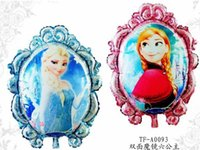 Wholesale christmas party decor Frozen Ballon Queen Anna kids Birthday Party Decoration Holiday Decoration inch Inflatable Aluminium Foil Balloons