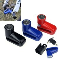 Wholesale Brand new Three colors new arrivel Hot Scooter Bike Bicycle Motorcycle Safety Anti theft Disk Brake Rotor Lock in stock