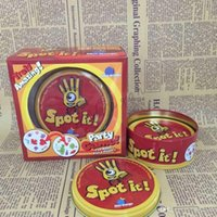 Wholesale Free Dhl Spot It Family Party Card Game Funny Family Cards Games popular card Game funny Board Game Trading Card Games christma gift