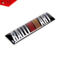 ad aluminium - xterior Accessories Emblems ETIE Ralliart Logo Emblem Auto Metal Decoration Sticker Aluminium Moto Decal Wrap Modified Automobile Ad