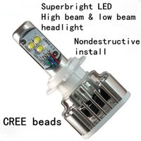Wholesale Superbright LED High beam low beam Headlight Cree W LM LED Car Headlight H4 H13 H16