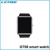 smart meter - 2015 smart watch GT08 ultra thin inch HD TFT screen bluetooth smart watch phone MTK6260A support camera pedometer NFC Free DHL