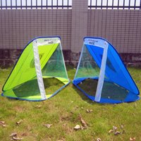 Wholesale Kids football goal Fold design soccer training door Black blue green color Exercise family portable child play