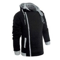 Wholesale Men s Zipper Autumn Winter Fashion Casual Slim Plus Sizes Cardigan Assassin Creed Hoodies Sweatshirt Outerwear Jackets Men Slim Pullover