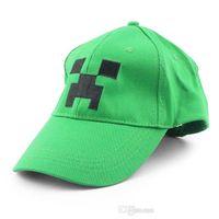 Wholesale Minecraft JJ Monster Creeper Toy Hat baseball hat Sun hat Peaked Cap Green