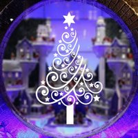 Wholesale 2015 Christmas decoration wallpaper red white black stars Christmas tree backdrop stickers home shop window glass backdrop decoration