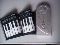10pcs Livraison gratuite 49 Piano main Clés flexible Rouleau numérique - Il est un 49 souple Piano Clavier avec adaptateur d'alimentation gratuit