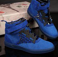 Cheap 2016 autumn winter fashion Patrick Mohr high shoes leather casual shoes for men's shoes rivet sneakers