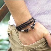 achat en gros de bracelets bon marché de gros-Bracelets Bracelets Homme Bracelets Homme Vintage De Ancora Bracelets Bracelet Punk Rock 2015 Nouveaux Cadeaux