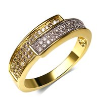 Three Stone Rings aa platinum - Women Party Rings Platinum K Real Gold Tones Plated Fashion Brass Ring AA Grade Cubic Zircon