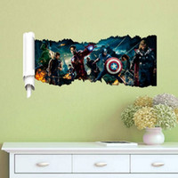 Wholesale 30pcs D The Avengers Super Heroes Wall Stickers for Kids Rooms Decorative Wall Decals Art Poster Wallpaper Home Decoration Posters