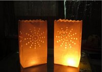 Wholesale Fireproof Paper Candle Bags for wedding birthday party christmas valentine s day Luminary candle bags