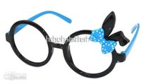 Wholesale Girl Sunglasses Frame Round Cute Rabbit Bowknot Leopard G2