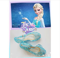 Wholesale Snow Queen Elsa Anime cosplay shoes Fashion Lolita sweet Children s shoes wedge cheap blue shoes YY