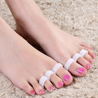 Wholesale Pairs Silicone Gel Toe Separator Toe Finger Separator Feet Care Braces Supports Tools Bunion Guard Foot Hallux Valgus