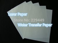 Wholesale A3 sheets A3 Printing Paper Clear Color Laser Water Slide Decal Paper Water Transfer Paper For Glass Retail
