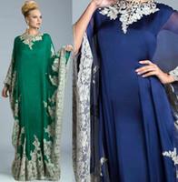 art wear clothing - 2016 dubai abayas kaftans dresses muslim evening dresses silk with lace appliques beaded arabic islamic clothing